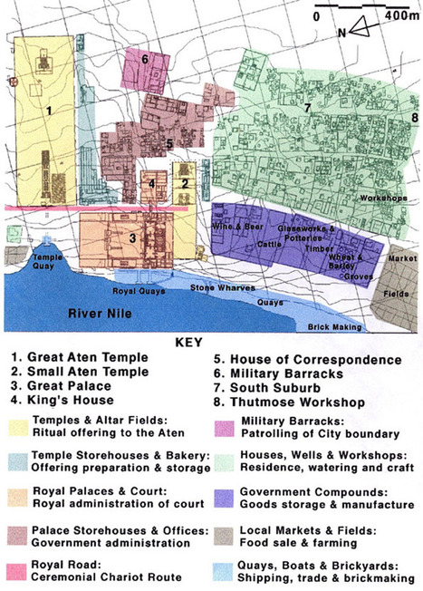 Interactive Map - Model Of The City - Amarna Project | Akhenaten | Scoop.it