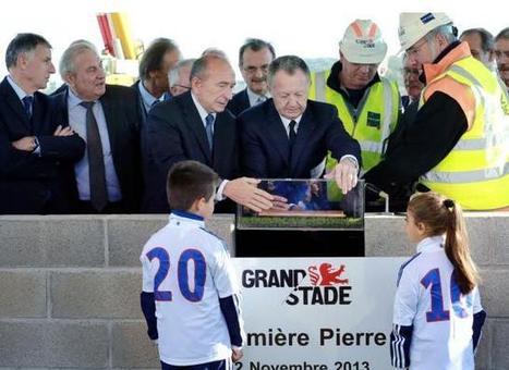 """Grand Stade de l'OL : pose de la première pierre à Décines et de la """"pierre tombale"""" à Bellecour - Rue89Lyon   Jérôme Sturla, un maire connecté avec sa ville   Scoop.it"""