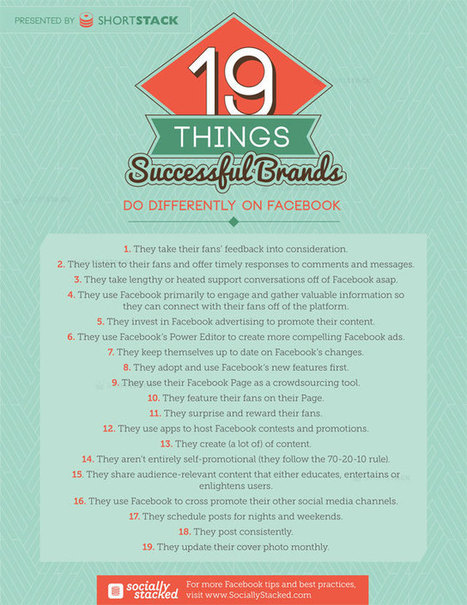 """19 Things Successful Brands Do Differently on Facebook 