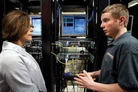 Students troubleshoot, problem-solve for Bluffs school district data center | Using Technology to Transform Learning | Scoop.it