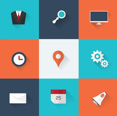 30 kostenlose Iconsets im Flat Design, die Sie den Skeuomorphismus für immer vergessen lassen - Dr. Web | freebies | Scoop.it