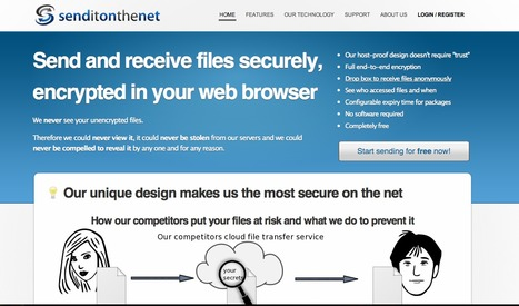 Senditonthenet - Free Secure File Transfer | Technology Tools for Leo's | Scoop.it