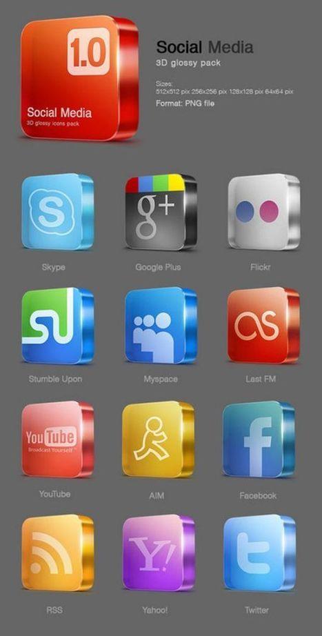 35 packs de iconos de redes sociales gratis | SociaLib | Scoop.it