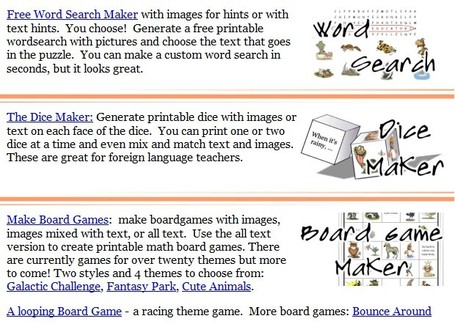 Tools for Educators - free worksheet makers, game creators, 100% customizable worksheet generators with images! | Educación Matemática | Scoop.it