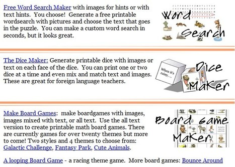 Tools for Educators - free worksheet makers, game creators, 100% customizable worksheet generators with images! | Docentes y TIC (Teachers and ICT) | Scoop.it