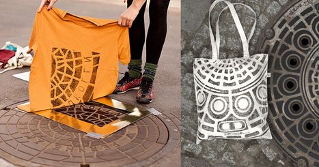 Pirate Printers: Shirts and Totes Printed Directly on Urban Utility Covers | Street-art Design Grafititi et Gros minet | Scoop.it