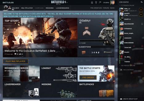 Battlelog pro Battlefield 4 je spuštěn pro účastníky exkluzivní bety | Battlefield 4 novinky | Scoop.it