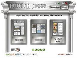 Printing Press - ReadWriteThink | Gelarako erremintak 2.0 | Scoop.it