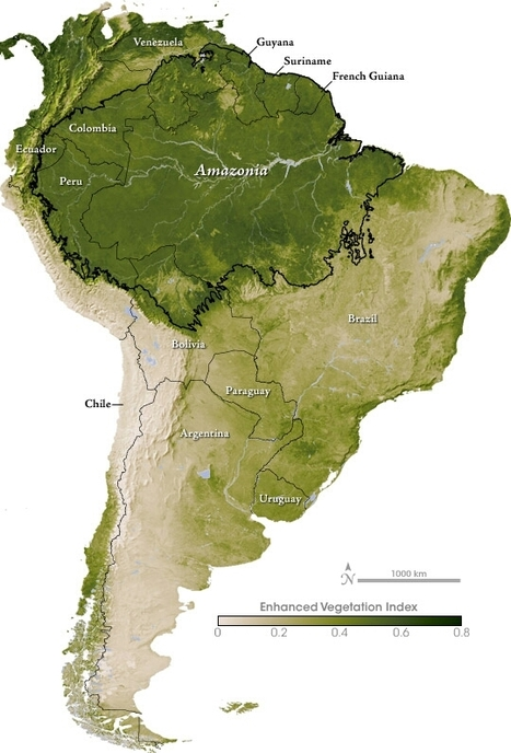 Map - Amazonia | World Geography | Scoop.it