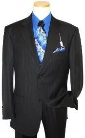 Black Pinstriped Suits At Online Store | Mens Personality development | Scoop.it