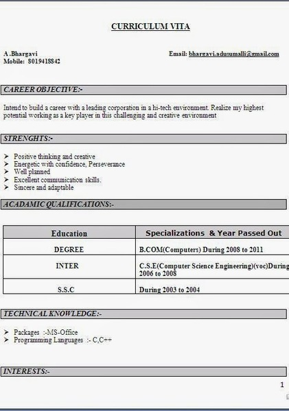 More Than 10000 CV Formats For Free Download: blank resume format | Job Related | Scoop.it