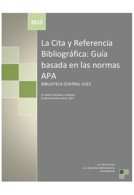 La cita y referencia bibliográfica: guía basada en las normas APA | Recull diari | Scoop.it