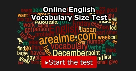 Online English Vocabulary Size Test | Informatics Technology in Education | Scoop.it