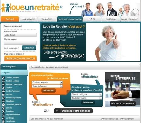 Loue-un-retraité.fr : un site de mise en relation entre particuliers et retraités actifs | isolement senior | Scoop.it