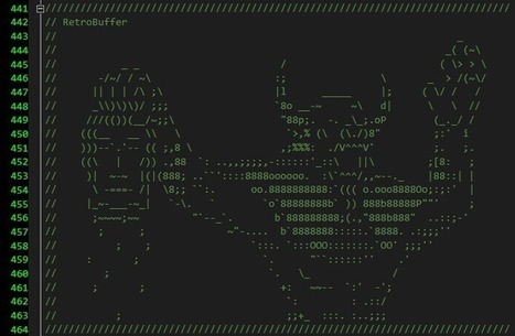 From the source code to the Frostbite game engine. source | ASCII Art | Scoop.it
