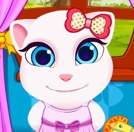 Talking Angela And Tom Cat Babies game | Games for kids | Scoop.it