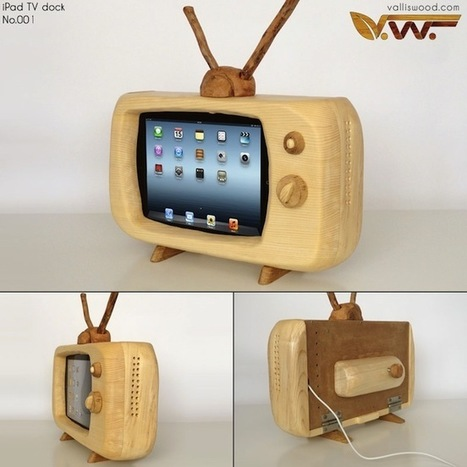 Wood iPad Retro Television Dock | Matmi Staff finds... | Scoop.it