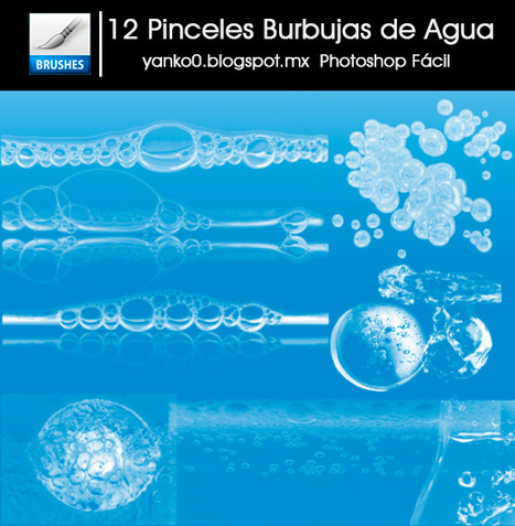 Photoshop Facil: 12 Pinceles de Burbujas de Agua | Vintage | Scoop.it