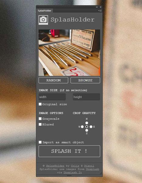 SplasHolder : une banque d'images disponible directement dans Photoshop | Graphisme, Web & Technologie | Scoop.it