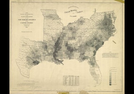 Map of the Last U.S. Slave Census 1860 « HOW TO BE A RETRONAUT | GenealoNet | Scoop.it
