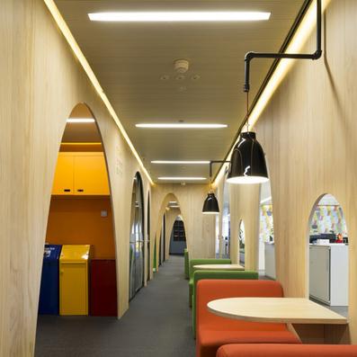 Google's colourful Madrid headquarters by Jump Studios | Madrid | Scoop.it