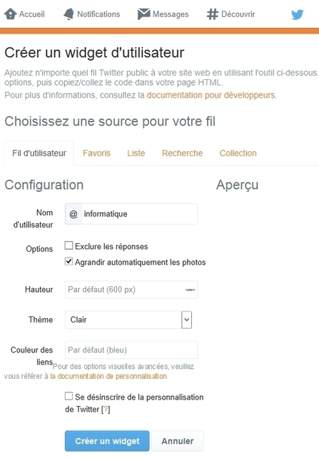 Le flux RSS de votre timeline Twitter | Informatique | Scoop.it