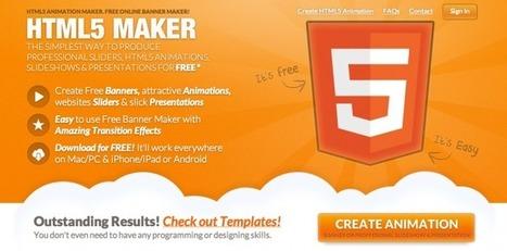 HTML5 Maker - Pour créer simplement des animations, bannières, etc. en HTML5 | Webdesign & Graphics | Scoop.it