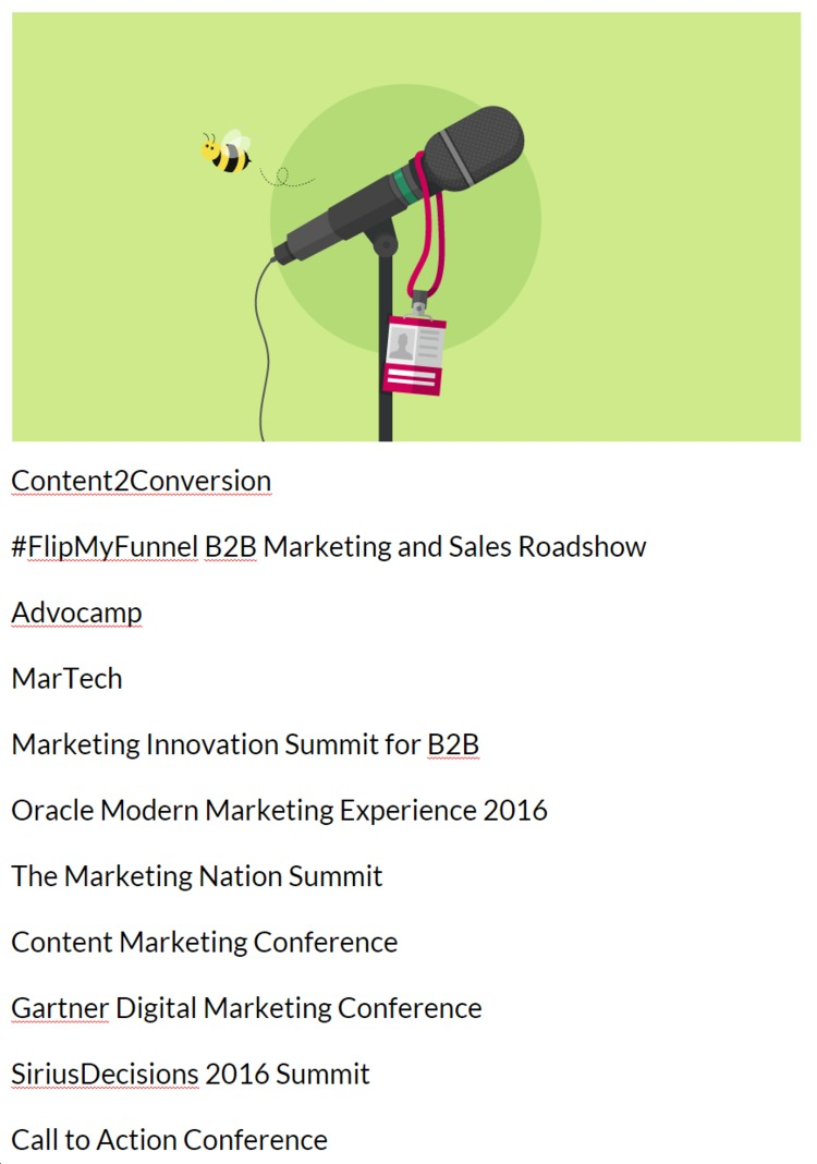 11 Must-Attend Spring Marketing Events - Uberflip | The Marketing Technology Alert | Scoop.it
