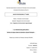 « Le mécénat des particuliers : leviers et enjeux dans le domaine culturel français » [Mémoire Master 2 CELSA] | generosite-associations | Scoop.it