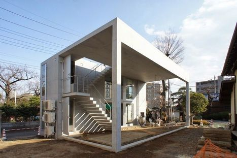 Open building and guest house in Saitama -Ikimono architects | The Architecture of the City | Scoop.it