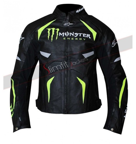 Alpinestars Monster Energy Biker Jacket | Motorcycle Leather Jackets For Men and Women | Scoop.it