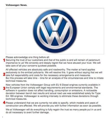 5 lecciones de manejo de comunicación que nos deja la crisis de Volkswagen | Comunicación 360º. Comunicating Today | Scoop.it