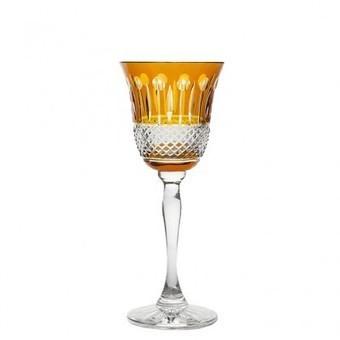 Rainbow Amber Wine Goblet, set of 2 | Coloured Crystal | Scoop.it