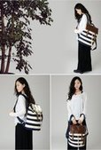 girls flap striped backpack | personalized canvas messenger bags and backpack | Scoop.it