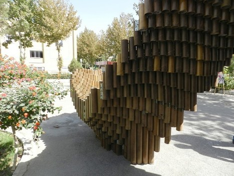 "PIPE pavilion is made from over one thousand recycled cardboard tubes (""upcycling anyone?"") 