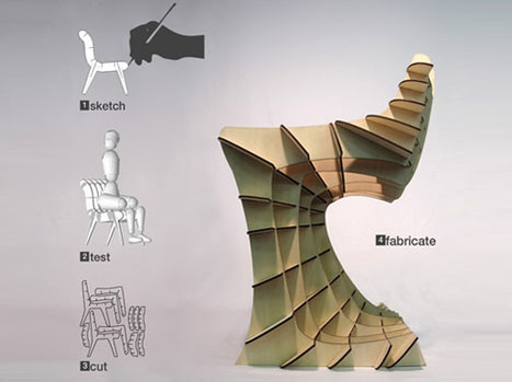 Laser-Printed Furniture?! Draw It in 2D then Build It in 3D | Designs & Ideas on Dornob | .748 | Scoop.it