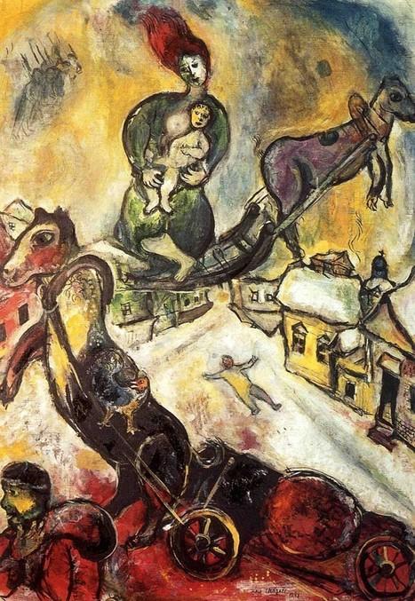 #189 ❘ La Guerre ❘ 1943 ❘ Marc Chagall (1887-1985)   BIBLIOTECAS ESCOLARES-Agofer   Scoop.it