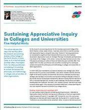 Sustaining Appreciative Inquiry in Colleges and Universities | Art of Hosting | Scoop.it