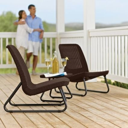 3-Piece Patio Set Keter Rio Durable Deck Furniture Outdoor Chairs Table Summer | Home and Business | Scoop.it