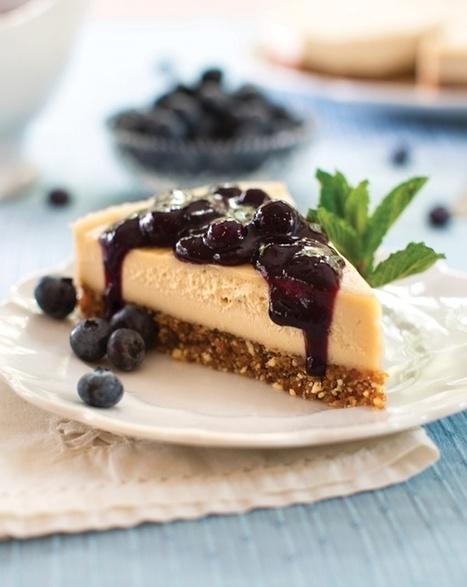 Raw Blueberry Cheesecake Recipe (Dairy-Free, Gluten-Free, Vegan) | My Vegan recipes | Scoop.it