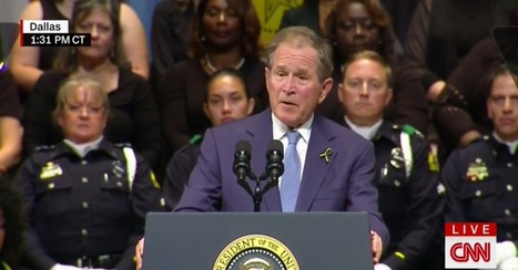 Former president George W. Bush honored the slain Dallas officers with a message of unity and empathy | Empathy and Justice | Scoop.it