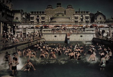 People enjoying the Gellert Bath, an outdoor pool in 1930... | Public Relations & Social Media Insight | Scoop.it
