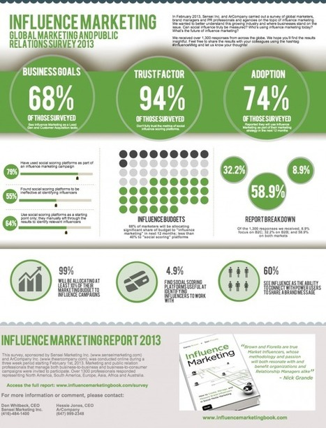 Influence Marketing In 2013 [INFOGRAPHIC] | Marketing, Social Media, E-commerce, Mobile, Videogames | Scoop.it