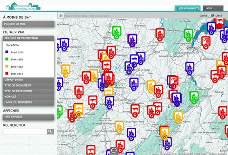 Carte  interactive du Patrimoine - http://patrimoinesenrhonealpes.fr/ - France 3 Rhône-Alpes | Culture encore active | Scoop.it