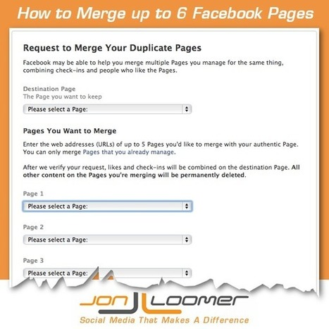 How to Merge Up to 6 Facebook Pages - JonLoomer.com   Social Media For U   Scoop.it