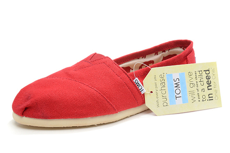 Women's Toms Red Canvas Classics Shoes | my want collection | Scoop.it