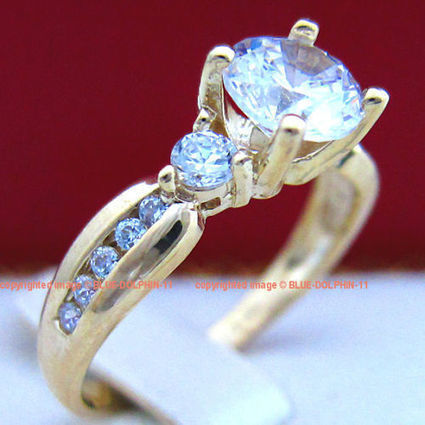 Antique Genuine Solid 9K Yellow Gold Engagement Wedding Rings Simulated Diamonds | Wedding and event | Scoop.it