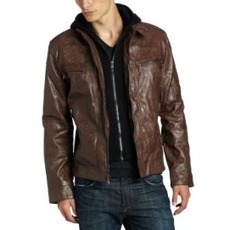 Calvin Klein Men's Faux Leather Moto Jacket With Hoodie - Outure Sports | Leather Corporate wear Tips | Scoop.it
