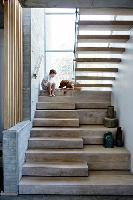Visite déco   Une grande maison ouverte sur la nature   décoration & déco   Scoop.it