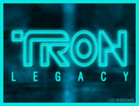 Effet de texte : Tron Legacy | | Photoshop Design | Scoop.it